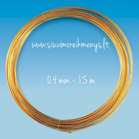 Проволока, золотого цвета, 0.4мм; 6460046