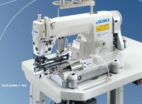 Высокоскоростная 1-игольная машина челночного стежка с цилиндрической платформой JUKI DLN-6390(-7)