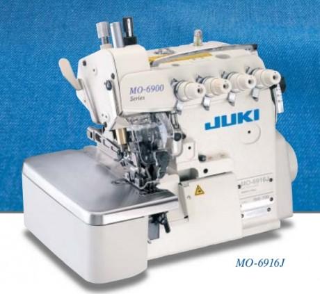 Оверлок для тяжелых материалов JUKI серии MO-6900J (G) с верхним продвижением материала