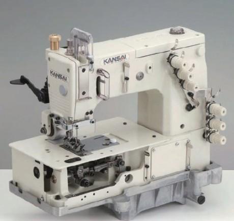 KANSAI SPECIAL DLR1503PTF трехигольная машина двойного цепного стежка