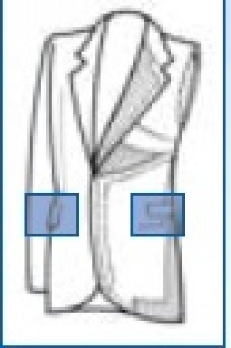 ROTONDI BL4030 Гладильный пресс для прессования бокового кармана пиджака.